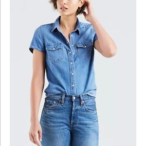 Levi's Short Sleeved Chambray Top | Size Sm NWT
